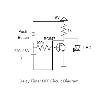Delay Timer OFF Circuit Diagram