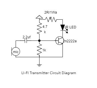 LI-FI Transmitter Circuit Diagram