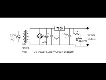 9V Power Supply Circuit Diagarm