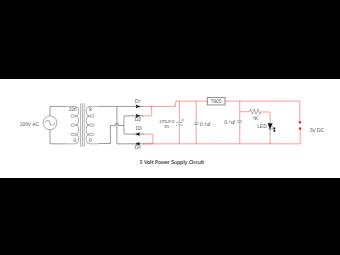5 Volt Power Supply Circuit Diagram