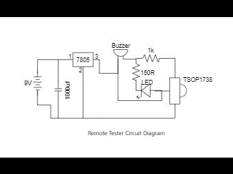 Remote Tester Circuit Diagram