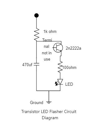 Transistor LED Flasher Circuit Diagram