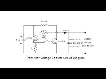 Transistor Voltage Booster Circuit Diagram