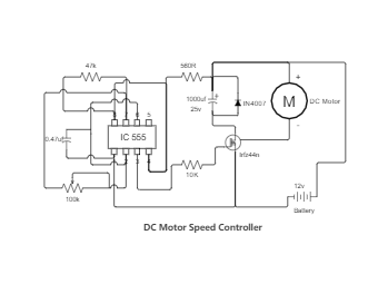 DC Motor Speed Controller Circuit Diagram