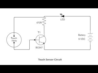 Touch Sensor Circuit Diagram