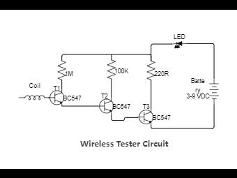 Wireless Tester Circuit Diagram