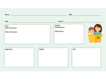 Editable Story Map Graphic Organizer