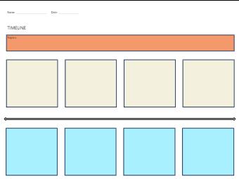 Horizzontal Timeline Graphic Organizer