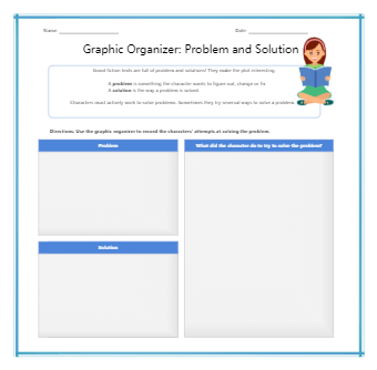 Problem Solution Graphic Organizer Printable