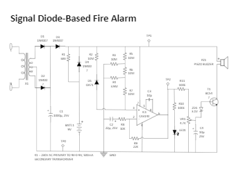 Signal Diode-Based Fire Alarm
