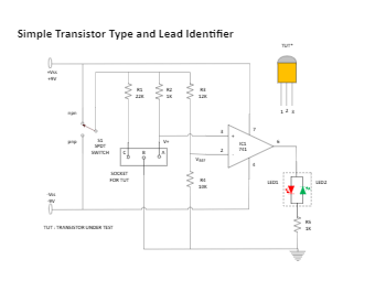 Simple Transistor Type and Lead Identifier