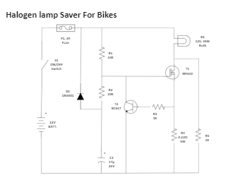 Halogen lamp Saver For Bikes