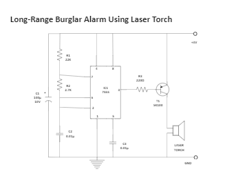 Long-Range Burglar Alarm Using Laser Torch