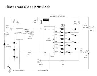 Timer From Old Quartz Clock