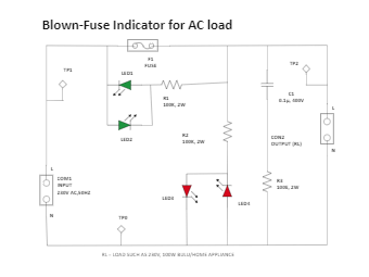 Blown-Fuse Indicator for AC Load