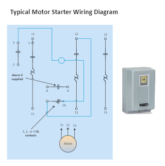 Typical Motor Starter Wiring Diagram