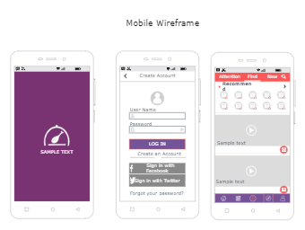 Mobile Wireframes Template