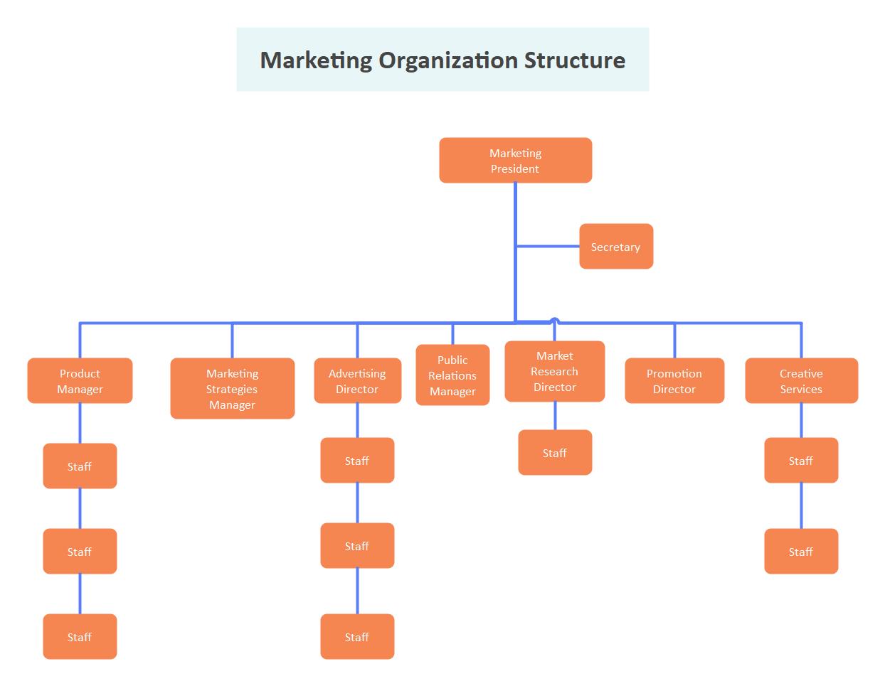 Marketing Organization Structure Template