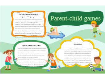 Parent-Child Sports Meeting Poster