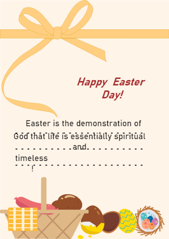 Easter Greeting Card Example