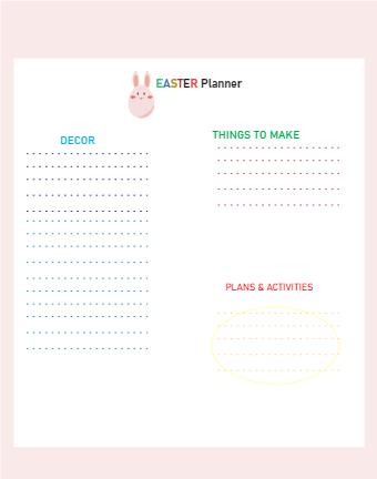 Easter Dinner Planner