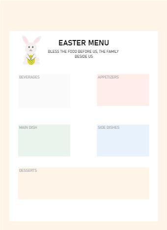 Easter Menu Planner