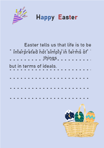 Purple Style Easter Card