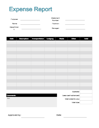 Expense Report Form