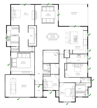 Apartment Exit Plan