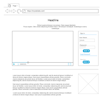 Brand Introduction Page Wireframe