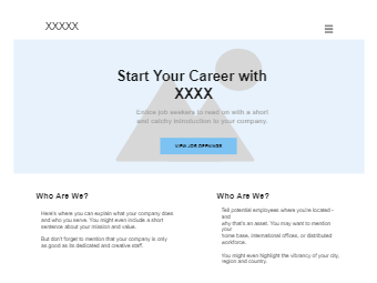 Careers Page Wireframe