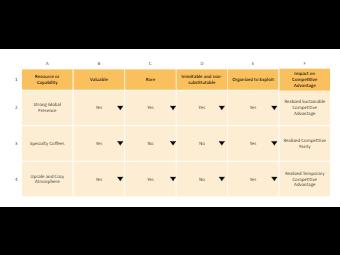 The Vrio Diagram