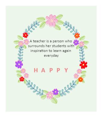 Inspired Teacher's Day Card