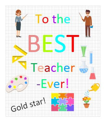 Thank You Card for Teachers
