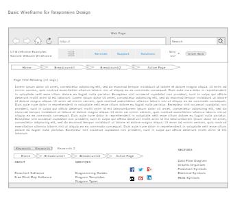 Basic Wireframe for Responsive Design