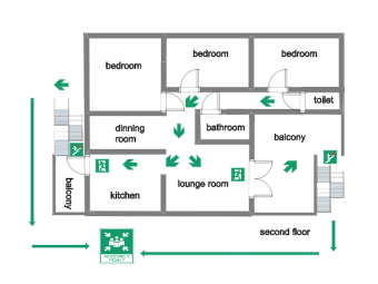 Potae_Second Floor Fire Evacuation Plan