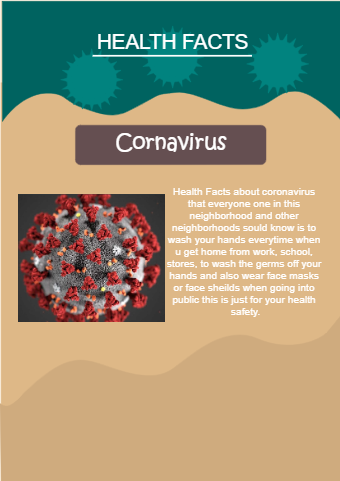 A Flyer about Coronavirus health facts