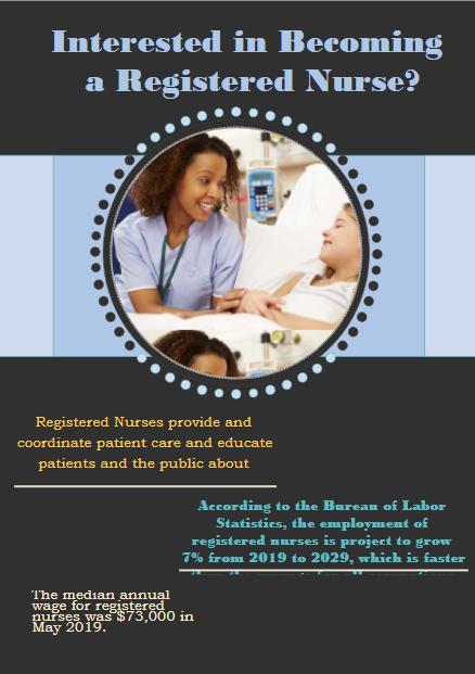Flyer about registered nurse