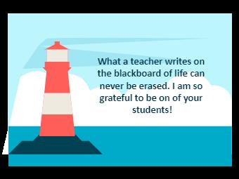Teacher's Day Card-Lighthouse