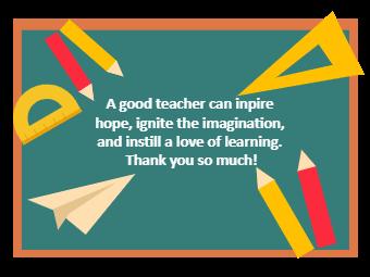 Classroom Teacher's Day Card