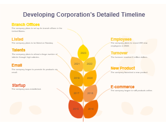 Developing Corporation's Detailed Timeline