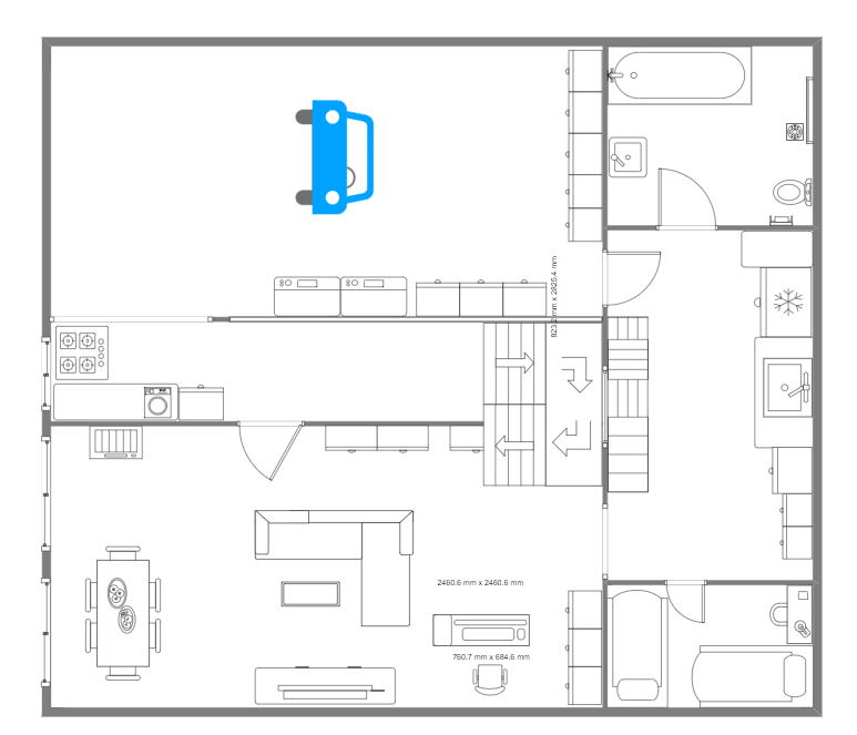 House with Car Park Floor Plan