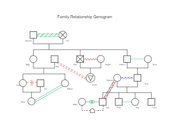 Family Relationship Genogram Template
