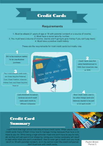 Credit Card Flyer