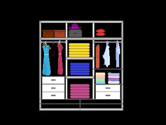 Wardrobe Layout Example