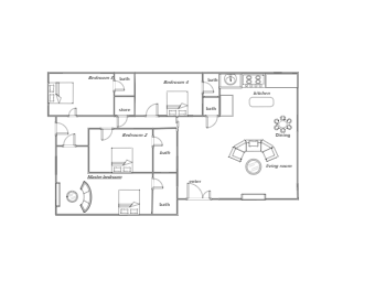 House Floor Plan with 4 Bedrooms