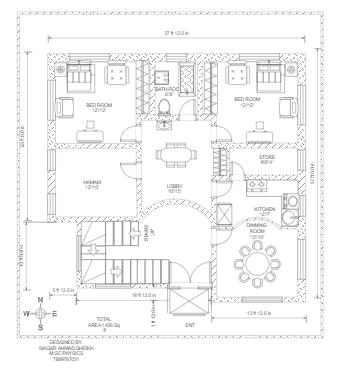 Floor Plan of Huge Villa's First Floor