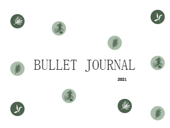 Bullet Journal 2021 Cover