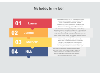 My Job and Hobby List Diagram