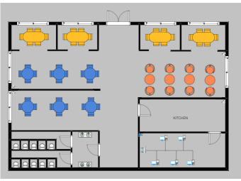 Floor Plan with Network Diagram